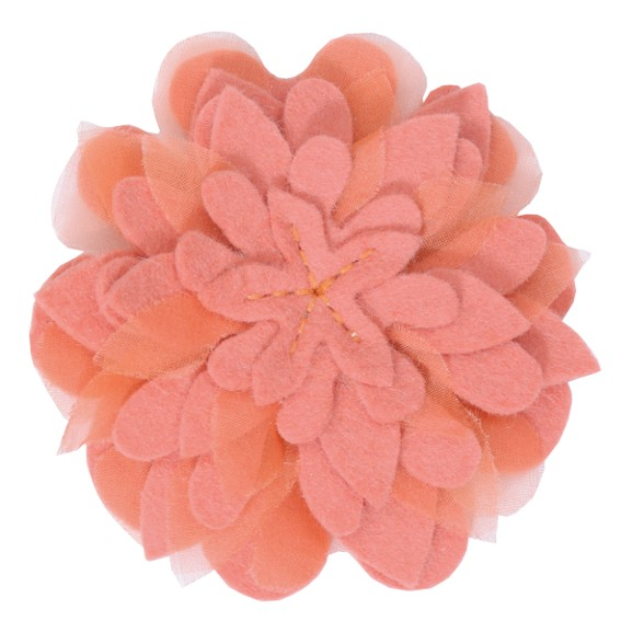 Brosche I Rose Rosalie I coralle