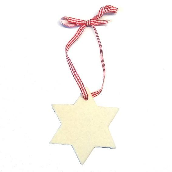 Anhänger Weihnachtsbaum Stern Weiß
