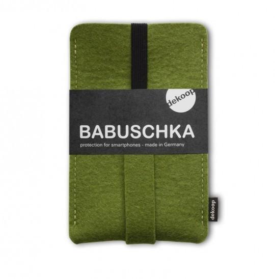 Handytasche Babuschka dekoop Olive Grün Wollfilz